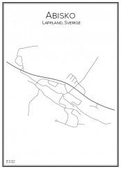 Stadskarta över Abisko