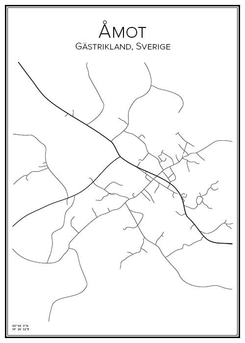 Stadskarta över Åmot