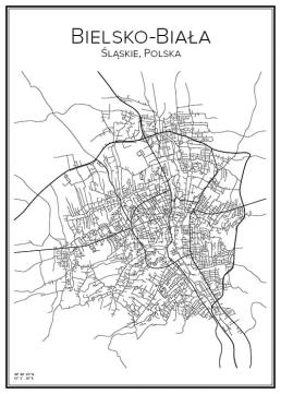 Stadskarta över Bielsko-Biała