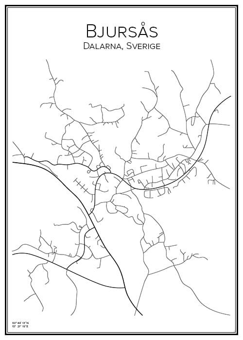 Stadskarta över Bjursås