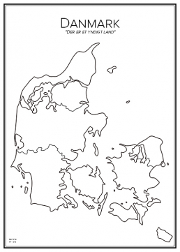 Stadskarta över Danmark