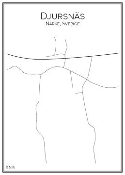 Stadskarta över Djursnäs