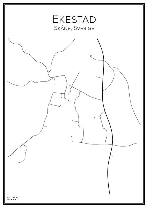 Stadskarta över Ekestad