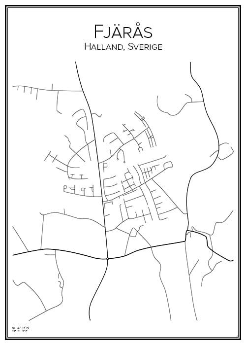 Stadskarta över Fjärås