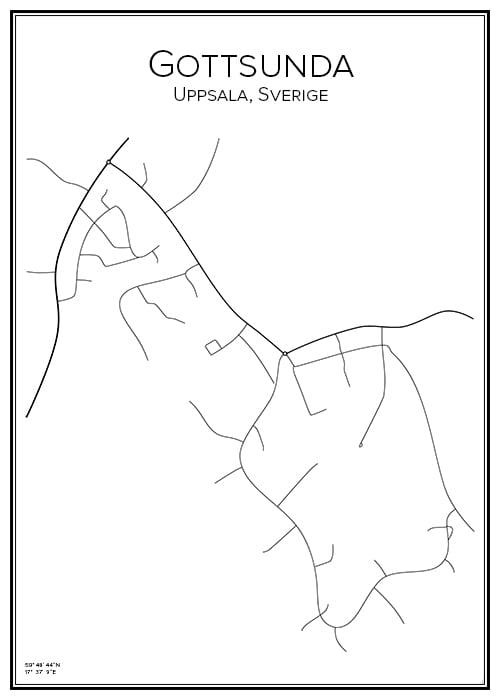 Stadskarta över Gottsunda
