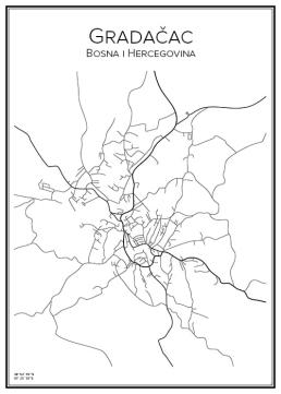 Stadskarta över Gradačac