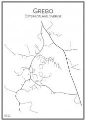 Stadskarta över Grebo