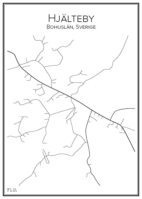 Stadskarta över Hjälteby