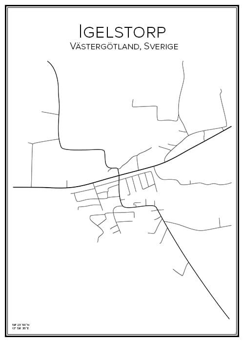 Stadskarta över Igelstorp
