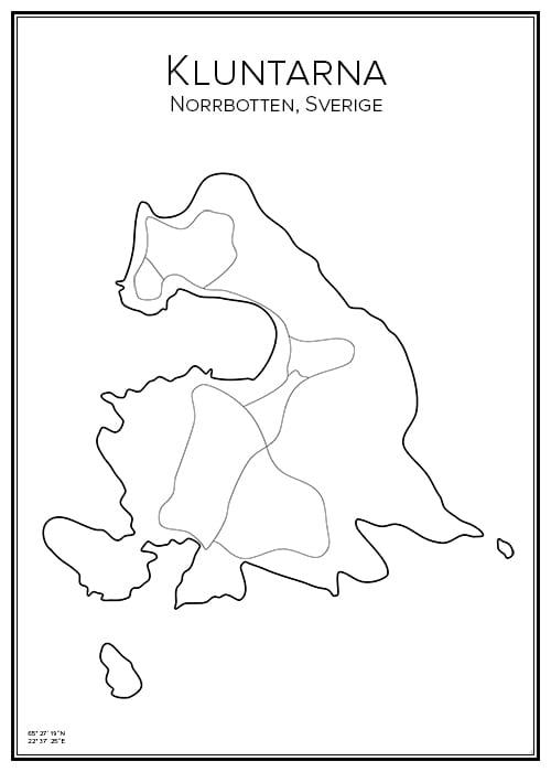 Stadskarta över Kluntarna