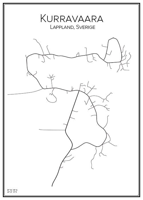 Stadskarta över Kurravaara