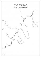 Stadskarta över Mossnäs