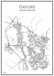 Stadskarta över Oxford