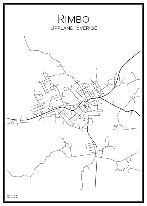 Stadskarta över Rimbo