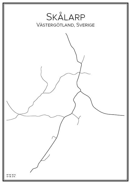 Stadskarta över Skålarp