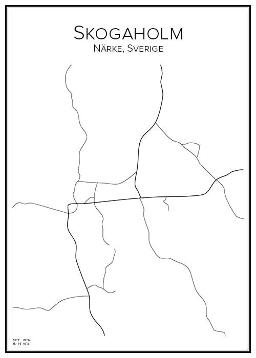 Stadskarta över Skogaholm