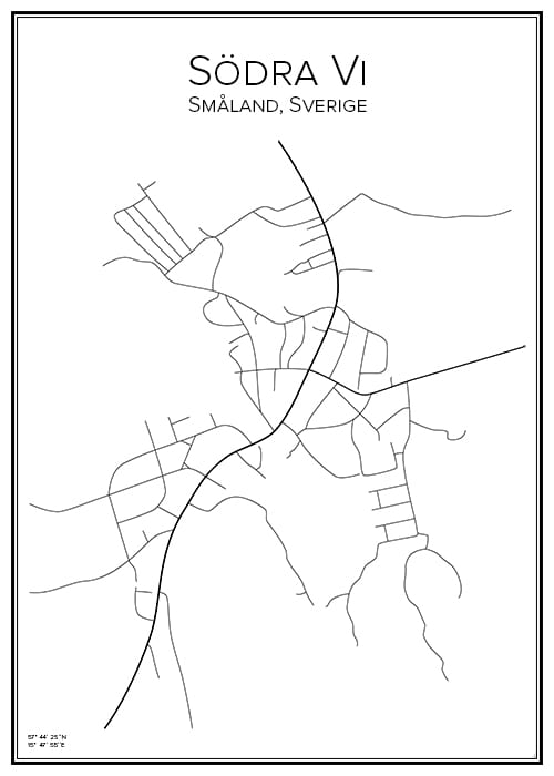 Stadskarta över Södra Vi