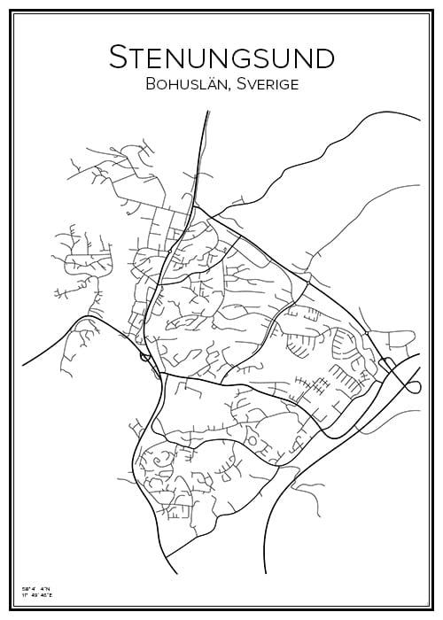 Stadskarta över Stenungsund