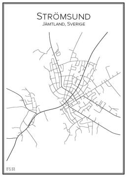 Stadskarta över Strömsund
