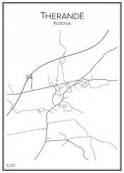 Stadskarta över Therandë