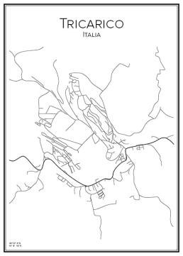 Stadskarta över Tricarico