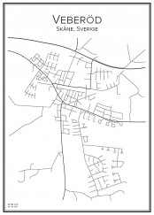 Stadskarta över Veberöd