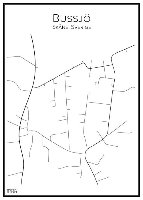 Stadskarta över Bussjö