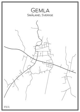 Stadskarta över Gemla