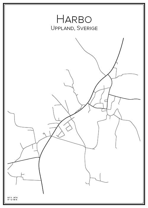 Stadskarta över Harbo