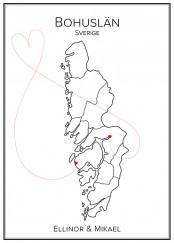 Kärlekskarta över Bohuslän