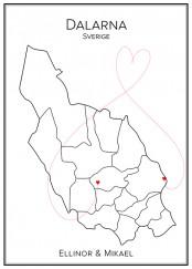 Kärlekskarta över Dalarna