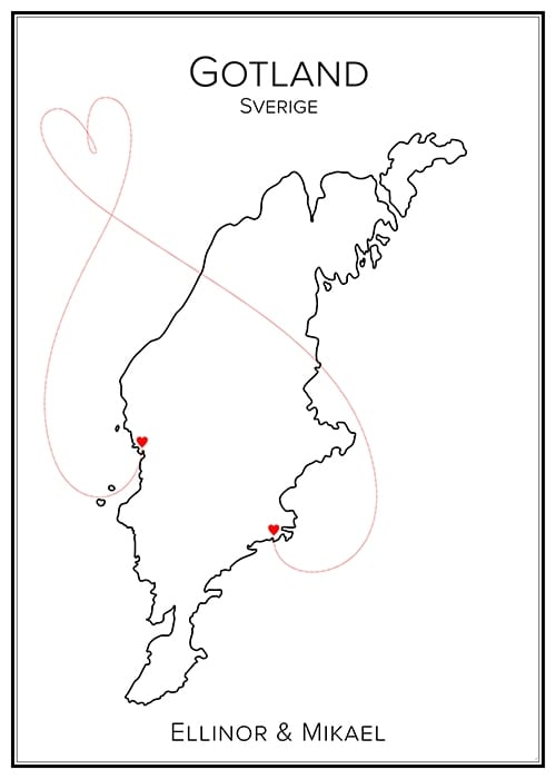 Kärlekskarta över Jämtland