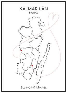 Kärlekskarta över Kalmar