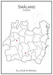 Kärlekskarta över Småland