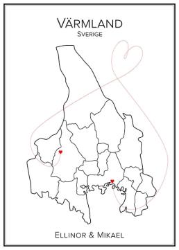 Kärlekskarta över Värmland