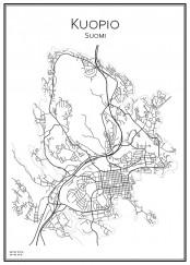 Stadskarta över Kuopio