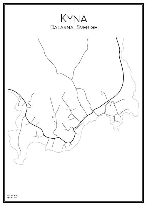 Stadskarta över Kyna