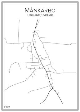 Stadskarta över Månkarbo