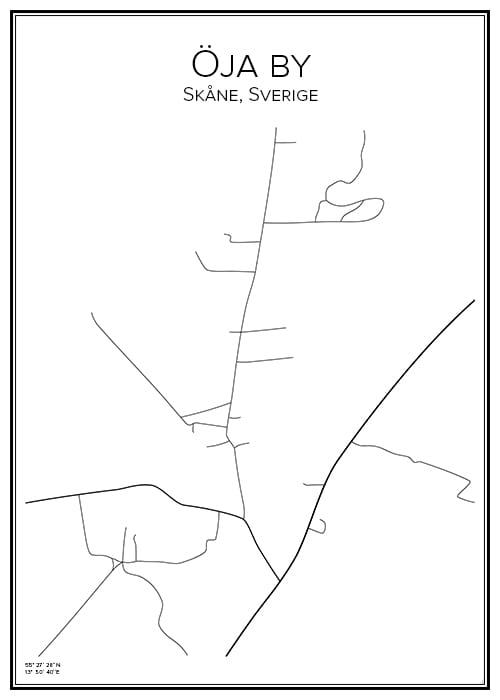 Stadskarta över Öja by