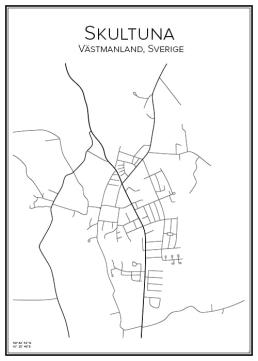 Stadskarta över Skultuna