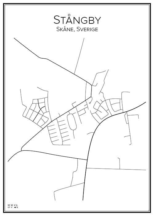 Stadskarta över Stångby
