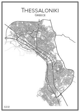 Stadskarta över Thessaloniki