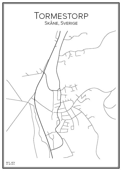 Stadskarta över Tormestorp
