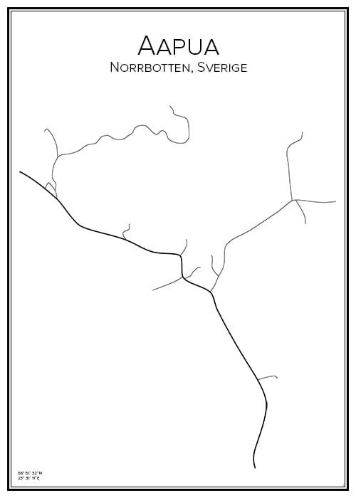 Stadskarta över Aapua