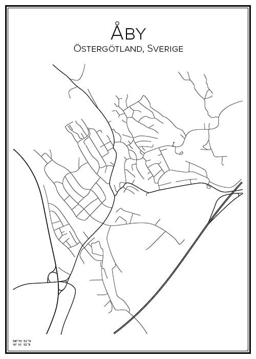 Stadskarta över Åby