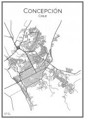 Stadskarta över Concepcion