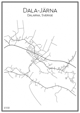 Stadskarta över Dala-Järna