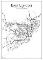 Stadskarta över East London