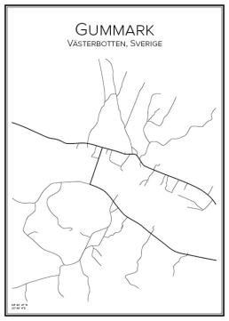 Stadskarta över Gummark