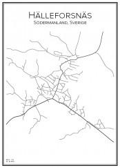 Stadskarta över Hälleforsnäs
